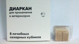 сахарные кубики диаркан применение для лечения собак кошек