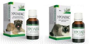 уролекс применение для лечения собак кошек
